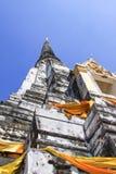 Grodperspektiv av pagoden Arkivbild