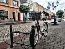Street and Bikes in the old town Royalty Free Stock Photography