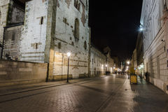 Grodzka街在晚上 免版税库存图片