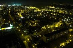 Grodzka komarnicy światła noc fotografia stock