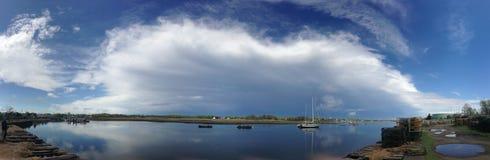 Grodzka rzeki zatoka, Quincy panorama Obraz Stock