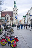 Grodzka street in Cracow Poland Stock Images