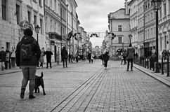 Grodzka street in Cracow Poland Royalty Free Stock Photography