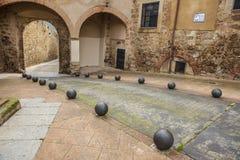 Grodzki bramy i świętego Lucia kwadrat, Plasencia, Fotografia Royalty Free