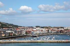 Grodzki Castro Urdiales w Cantabria, Hiszpania Fotografia Stock
