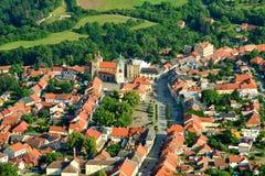 Grodzki Kourim - Dziejowy miasto zdjęcie royalty free