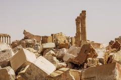 Grodzki pobliski Palmyra w Syrii fotografia stock