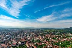Grodzki przegląd dla wierzchołka wzgórze zdjęcie royalty free
