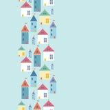 Grodzkich domów pionowo bezszwowy deseniowy tło Obrazy Stock