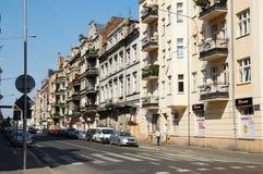 grodzkie stare ulicy poznan Zdjęcia Royalty Free