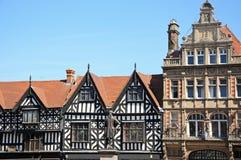 Grodzkiego centre budynki, Shrewsbury fotografia royalty free