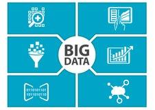Große Datenarmaturenbrettillustration Stockbild