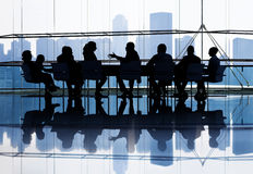 Große Gruppe Geschäftsleute Treffen Lizenzfreies Stockbild