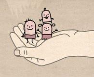 Große hand- schützen sich Stockbilder