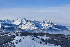 Große Höhe Ski Domain Stockbild