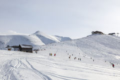 Große Höhe Ski Domain Lizenzfreies Stockfoto