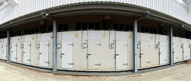 Große Kühlraum-Anlage Lizenzfreie Stockfotos