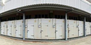 Große Kühlraum-Anlage Stockbilder