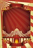 Große Oberseite des netten Zirkuses Lizenzfreies Stockbild