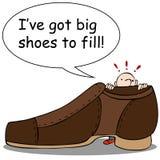Große Schuhe zum zu füllen Lizenzfreie Stockfotografie