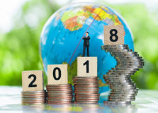 Groeiend bedrijfs en voltooiingsconcept als achtergrond Royalty-vrije Stock Afbeelding
