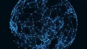 Groeiend globaal netwerk en gegevensverbindingenconcept Wetenschappelijk technologieinformatienet royalty-vrije illustratie
