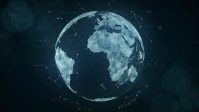 Groeiend globaal netwerk en gegevensverbindingenconcept royalty-vrije illustratie