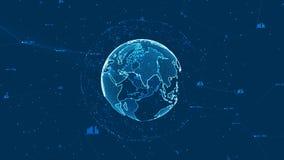 Groeiend globaal netwerk en gegevensverbindingenconcept vector illustratie
