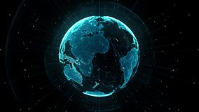 Groeiend globaal netwerk en het Communicatienetwerkconcept van ICTInformation stock illustratie