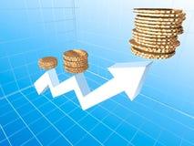 Groeiend inkomen Royalty-vrije Stock Afbeeldingen