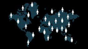 Groeiend sociaal netwerk stock videobeelden