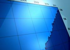 Groeiende bedrijfsgrafiek Stock Foto