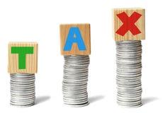 Groeiende belastingen Royalty-vrije Stock Foto's