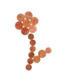 Groeiende die besparingen - bloem van geld wordt gemaakt Royalty-vrije Stock Afbeeldingen