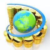 Groeiende euro Stock Afbeelding