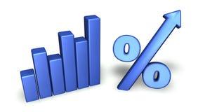 Groeiende Grafiek Royalty-vrije Stock Foto's
