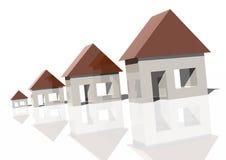 Groeiende huismarkt royalty-vrije illustratie