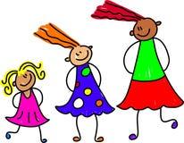 Groeiende meisjes vector illustratie