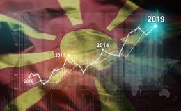 Groeiende Statistiek Financiële 2019 tegen Republiek Macedonië F stock illustratie