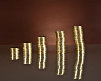 Groeiende zaken, geld, economie Royalty-vrije Stock Afbeelding