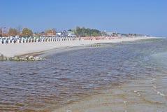 Groemitz, η θάλασσα της Βαλτικής, Σλέσβιχ-Χολστάιν, Γερμανία Στοκ Εικόνες