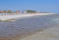 Groemitz, morze bałtyckie, Holstein, Niemcy Obrazy Stock