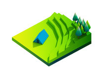 Groen aardeconcept in isometrische mening Royalty-vrije Stock Fotografie