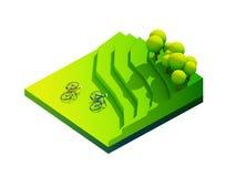 Groen aardeconcept in isometrische mening Royalty-vrije Stock Afbeeldingen