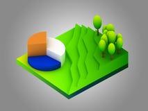 Groen aardeconcept in isometrische mening Royalty-vrije Stock Foto's