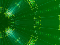Groen abstract achtergrond, lijnen en licht stock illustratie
