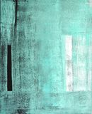 Groen Abstract Art Painting Stock Foto's