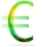 Groen abstract Euro teken Vector Illustratie