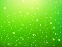 Groen abstract licht vlekken bokeh naadloos patroon, vector Stock Foto