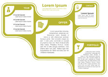 Groen abstract vector infographic concept als achtergrond Royalty-vrije Stock Afbeeldingen
